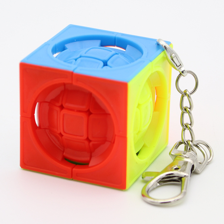 New Magic Cubes Keychain 3.5CM Ball Cube Can Rotated Magic Cubes Pendant Twist Puzzle Toys For Children Gift Rubiks Cube