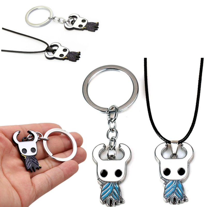 Game Hollow Knight Metal Pendant Necklace Cosplay Key Chains Keychain Keyring