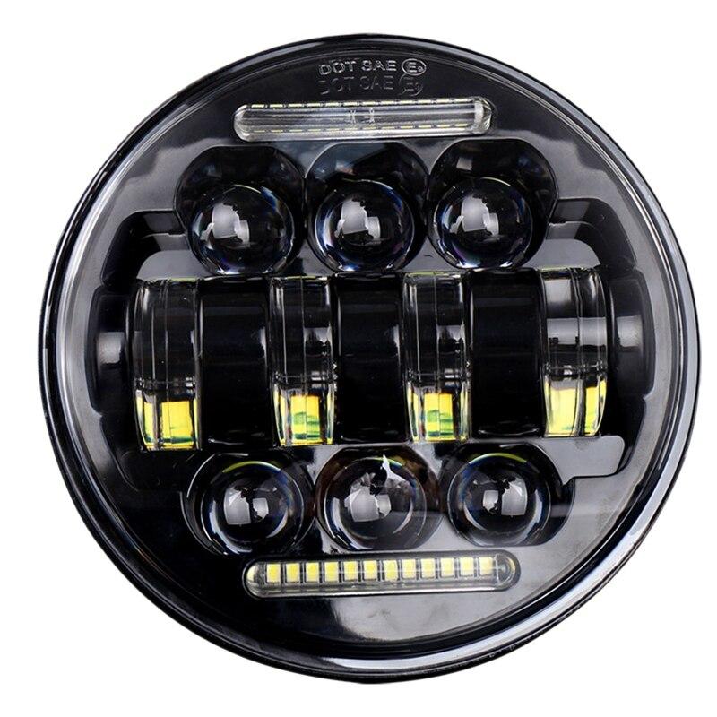 1 pièce 50W 5.75 pouces moto modifié Led phare rond ange Eye tout-terrain conduite lumière modifié phares