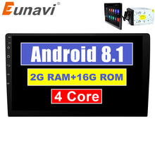 Eunavi 2 din 10,1 дюйма quad core TDA7851 Android 8,1 автомобилей Радио gps навигации с емкостный экран стерео Bluetooth, Wi-Fi 3g