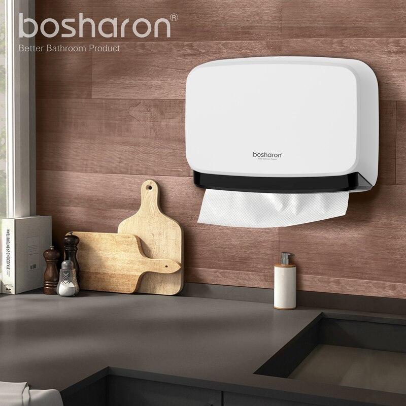 Banyo Kithen Kağıt Havlu Dispenseri Duvara Montaj YENI ABS Kalın - Evdeki Organizasyon ve Depolama - Fotoğraf 6
