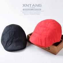 Good quality suede fabric velvet child boy girl beret cap baby hat fashion suede Beret children suede tide baby peaked cap