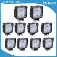 10pcs 4 Inch 27W LED Work Light Flood Spot Fog Driving Lamp 12V 24V For Motorcycle