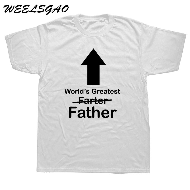 0422cf20 WEELSGAO WORLDS GREATEST FARTER FATHER Funny T Shirt Men Short Sleeve  Printed Cotton Cartoon T-shirt Tops