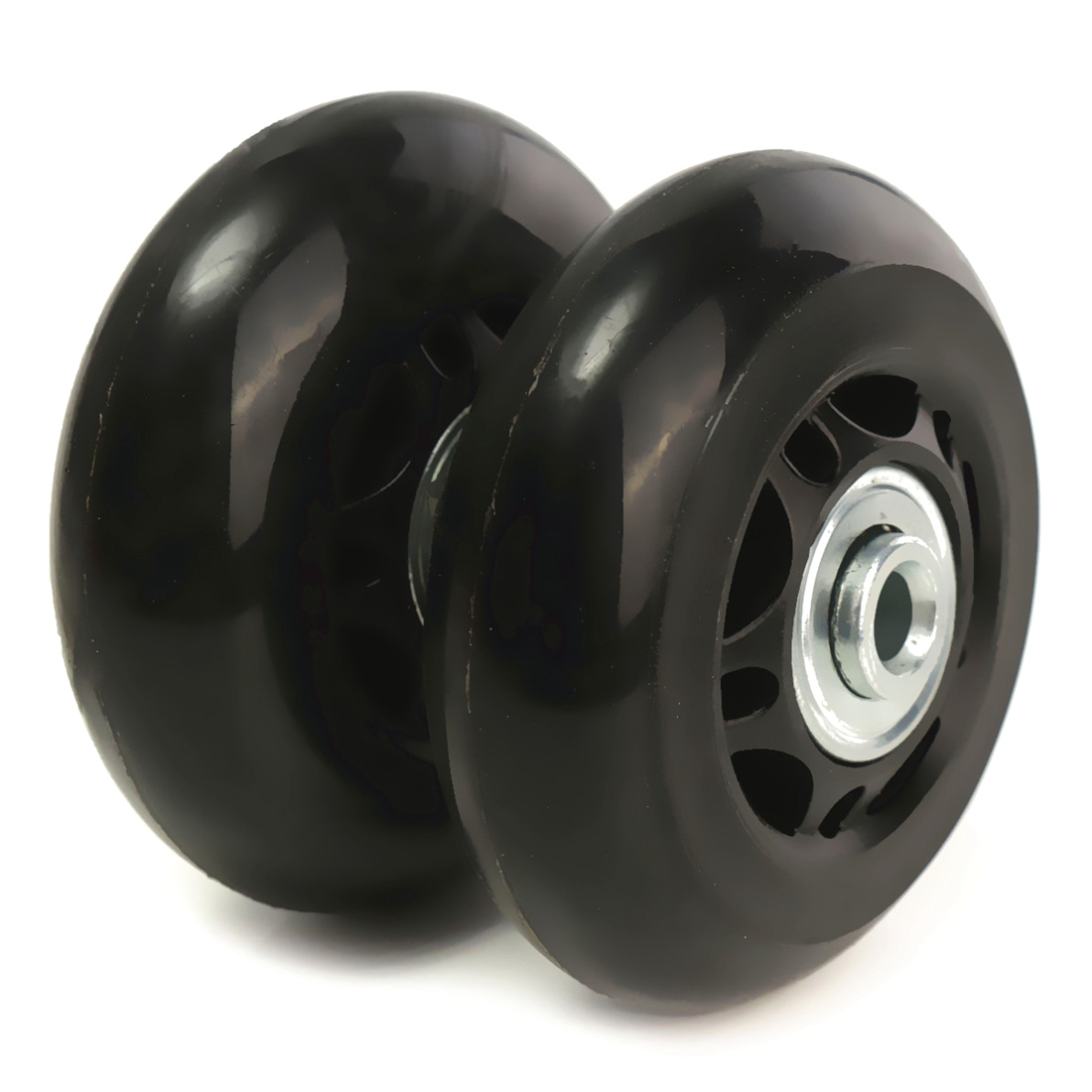2 Set Luggage Suitcase Replacement Wheels Axles Rubber Deluxe Repair OD 64mm New