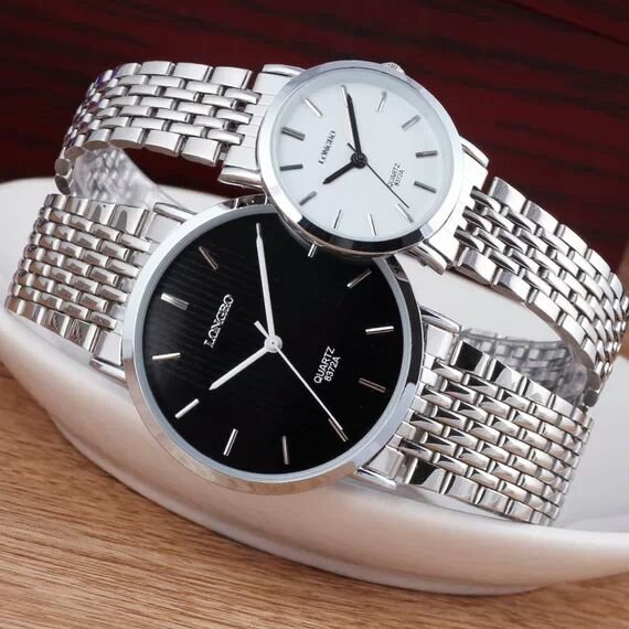 New Arrive Longbo Luxury Brand watch for women full stainless steel men s watch fashion quartz