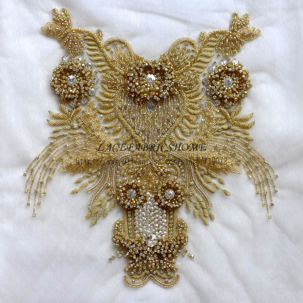 Silver Super High grade imitation large Rhinestone patches handmade embroidery wedding dress accessories 1 piece 35X35cm