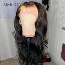 13x6 HD Lace Transparent Body Wave Wig 150% Density Transparent Lace Front Human Hair Wigs Remy Full Ends PrePlucked Lace Wig(China)
