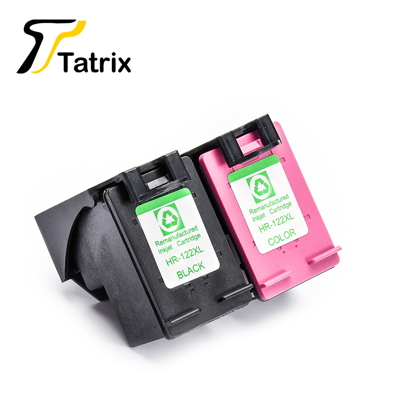 2PK For HP122XL BK/Color Remanufactured Ink Cartridge With Chip For HP Deskjet 1000/1050/2000/2050/3000/3050/J410a/J510a 2pk for hp 61xl remanufactured ink cartridge bk