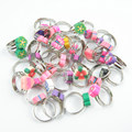Wholesale 15Pcs Kids Polymer Clay Cartoon Flower Adjustable Rings Children Smile Face Finger Rings Girls Toy Jewelry Gift