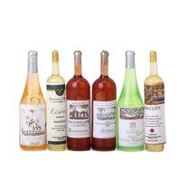 6Pcs set Doll house wine bottle 1/12 handmade accessories