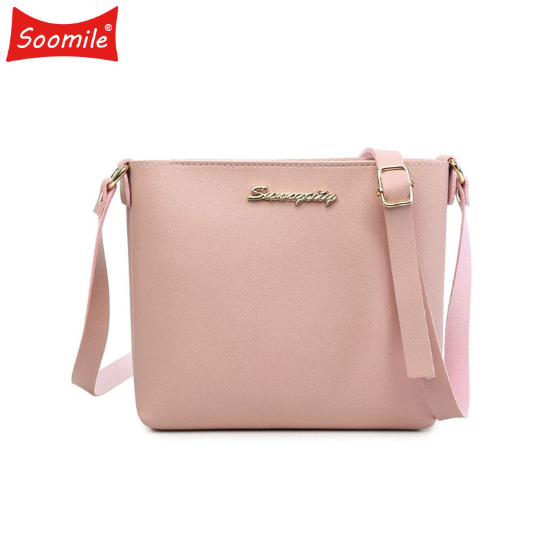 где купить Soomile 2018 Woman Messenger Bags Female Brand HandBag Lady Solid Flap Women Fashion pu Leather Shoulder Bag Girl Crossbody Bags по лучшей цене