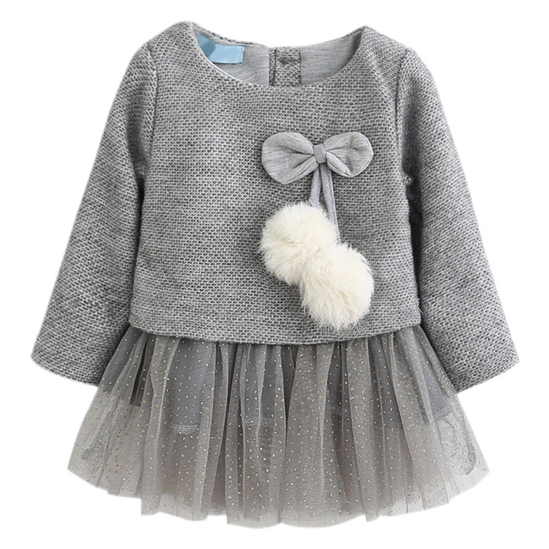 Winter Baby Girls Dress Long-Sleeve Princess Dress Ball Of Little Kids Clothes Children Party Cute Autumn Dresses