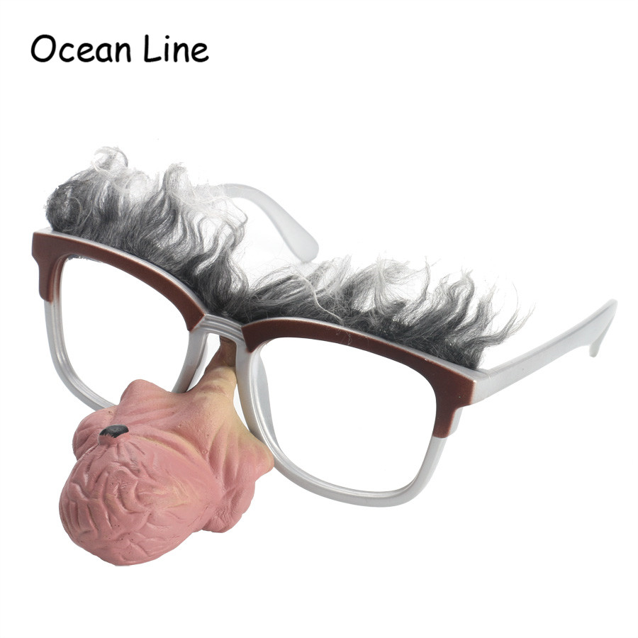 Funny Costume Old Man Glasses Slicone Big Nose Clown Cosplay Props Photo Booth Props Fun Favors Mask Party Supplies Decoration