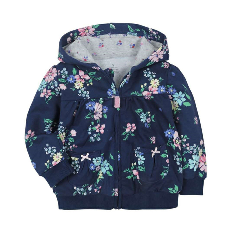 2018 baby boys girls hooded sweatshirts cotton cartoon tops truck flower whale out wear kids clothes for 9m-3years 3