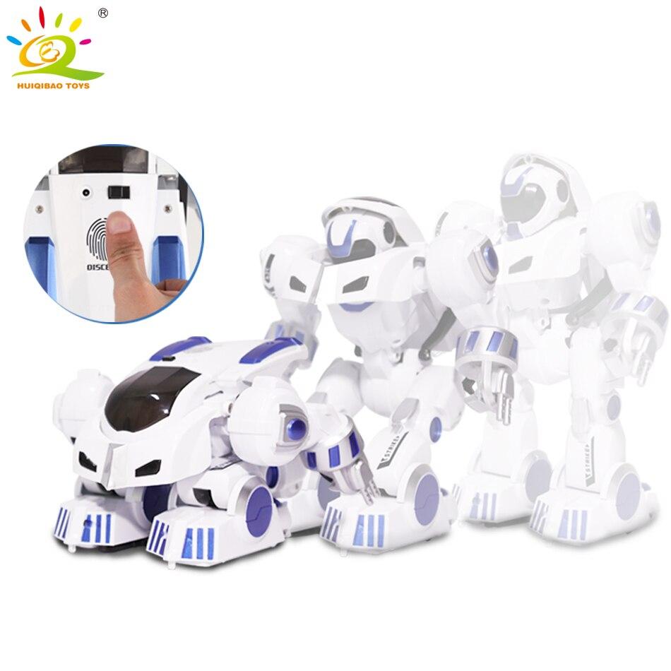 Huiqibao brinquedos de deformação inteligente rc robô com dança música controle remoto eletrônico inteligente brinquedos para crianças presente aniversário - 2