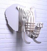 Nodic слон ремесла, деревянный слон головка для домашнего декора, голова животного настенные, деревянные корабли, Декор, настенный, Резной дек