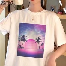 Female t shirt NEW Summer Casual Harajuku Kawaii wave Japanese print fun short-sleeved tshirt women tops tees wave T-shirt S-2XL все цены
