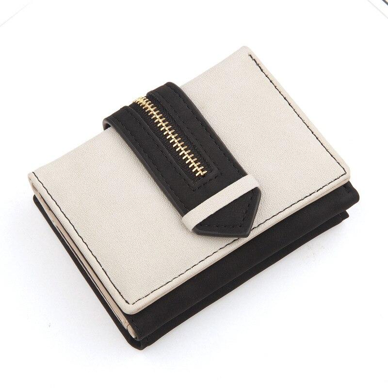кошелек Для женщин кашелек женский кожаный кошелек короткие кошельки для денег женские портмоне и кошельки модные черный держатель карт не...
