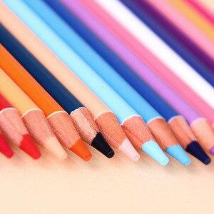 Image 3 - Deli Stationery Office Juego de lápices de colores al óleo, 48/72 colores, para dibujar bosquejo de pintura, caja de lata, material escolar para bellas artes profesional