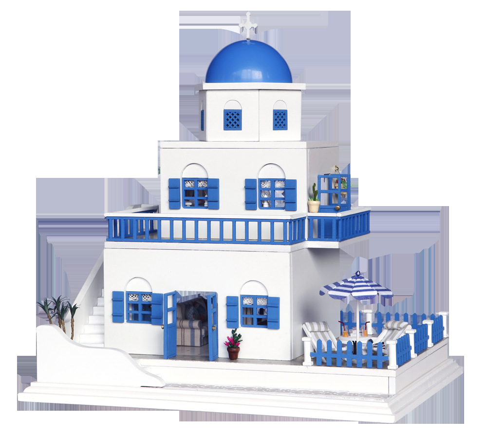 kawaii creative gift Wood DIY Assembled model building toys House Dolls Pretend Play Furniture Mini Toy Household romantic gifts luxury gift blue mosque 3d puzzles model big building construction toys max level iq game huge house decoration collection model