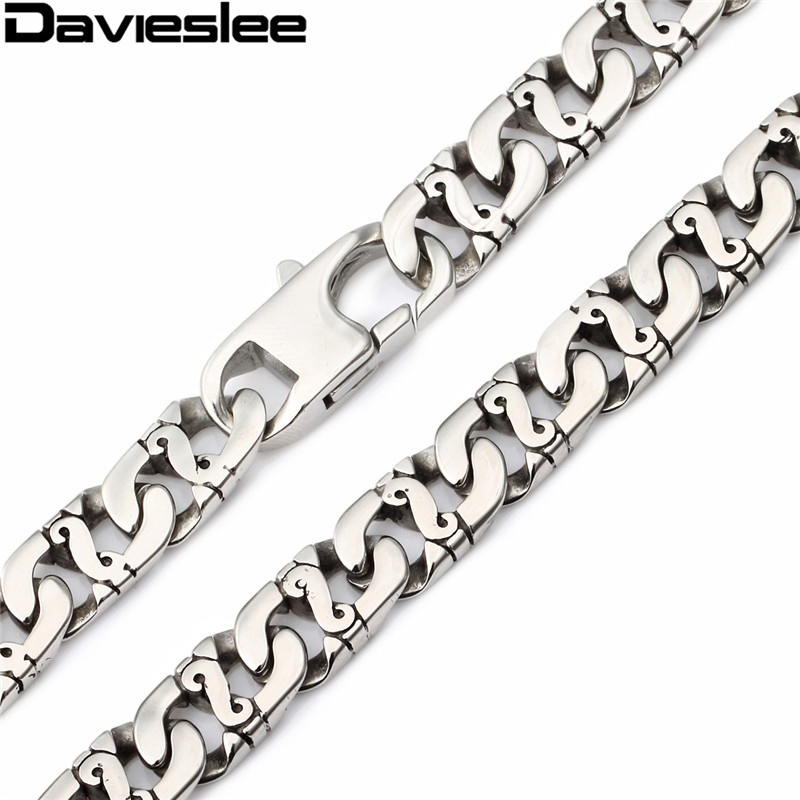 9.5mm 316L Stainless Steel Necklace Bikes