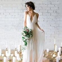 LAYOUT NICEB SHJ737 Simple Boho Wedding Dress 2019 V-Neck