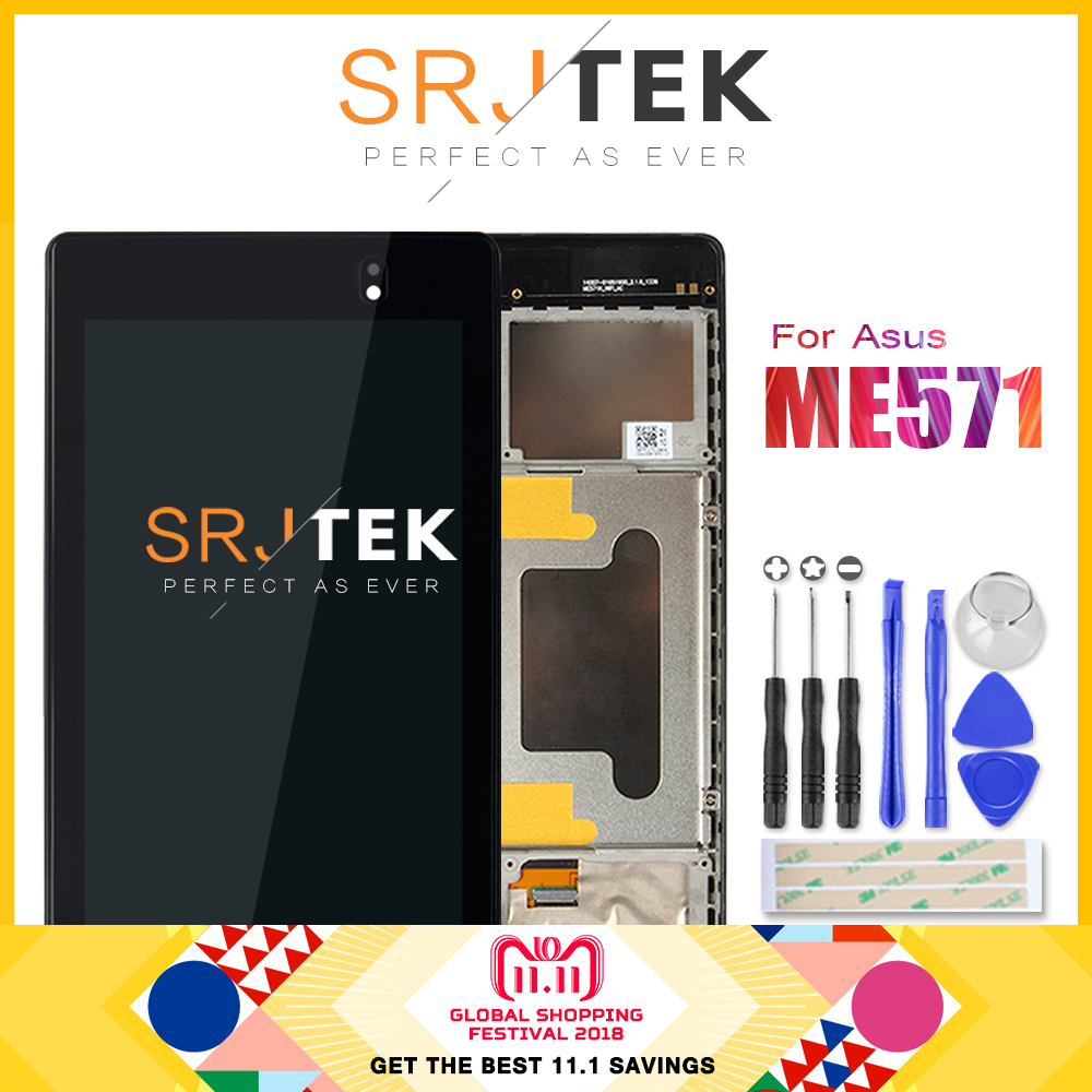 Für ASUS Google Nexus 7 2nd 2013 FHD ME571 ME572 ME571K ME571KL ME572CL K008 K009 LCD Display Touchscreen Digitizer rahmen Ass