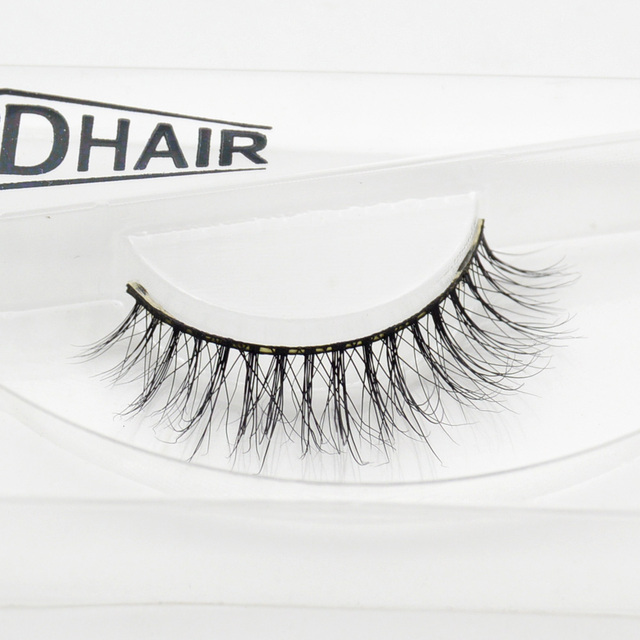 Visofree 3D Mink Eyelash Real Mink Handmade Crossing Lashes Individual Strip Thick Lash Fake Eyelashes A18