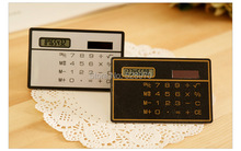 Slim Credit Card Solar Power Pocket Mini Calculator Novelty Small Calculator Fashion Special Hot and Convinient Design