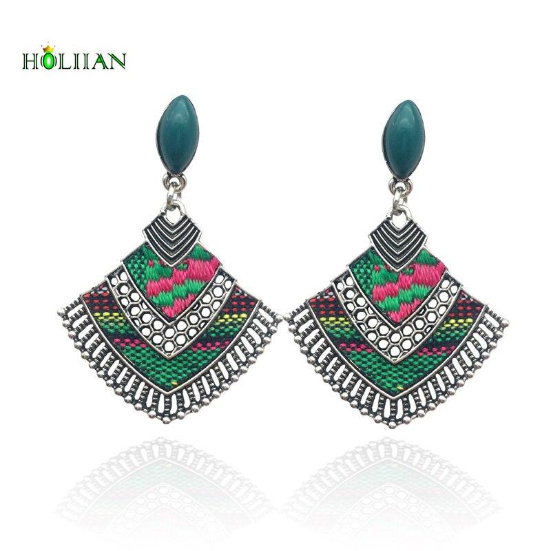 Women fashion earrings vintage tassel pendant earring ethnic boho pendientes mujer moda dangle bohemia jewelry hippie