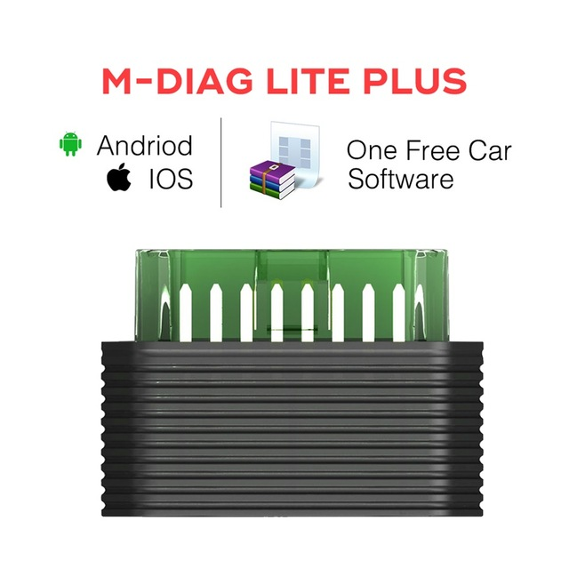 Original Launch M-Diag Lite Plus for iOS Android Built-in Bluetooth OBDII with Special Function Mdiag Get One Free Car Software