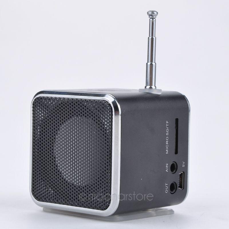 Caliente TD-V26 Micro SD TF USB Mini Altavoz Reproductor de Música Portátil Radio FM Estéreo PC Mp3 Portátil 6 Colores