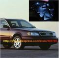 Free Shipping 13pcs/lot White Interior LED Lights For Audi A6 C4 Avant 1994-1997