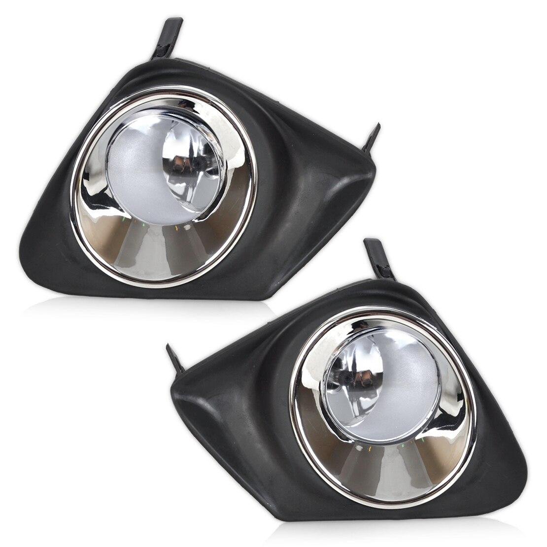 Beler 4pcs front bumper left right fog light lamp black grille cover kit for toyota corolla 2011 2012 2013