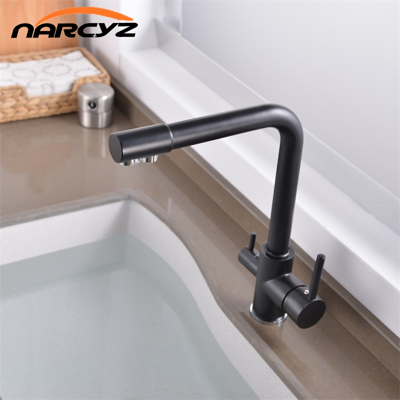 Narcyz More color Brass Marble Painting Swivel Drinking Water Faucet 3 Way Water Filter Purifier Kitchen