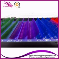 Free Shipping New Product 5 Tray 4 Colors Individual Lash Extension Silk Colorful Eyelash Extension Fashion