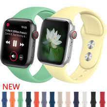 Strap for Apple watch band Silicone Sport correa 4 44mm 40mm iwatch 4 3 2 42mm 38mm Bracelet pulseira aple watch 4 accessories
