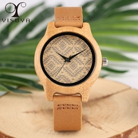 YISUYA Womens Bamboo Wooden Watches Square Minimalist Quartz Ladies Leather Bracelet Watch Casual Clock Montre Femme