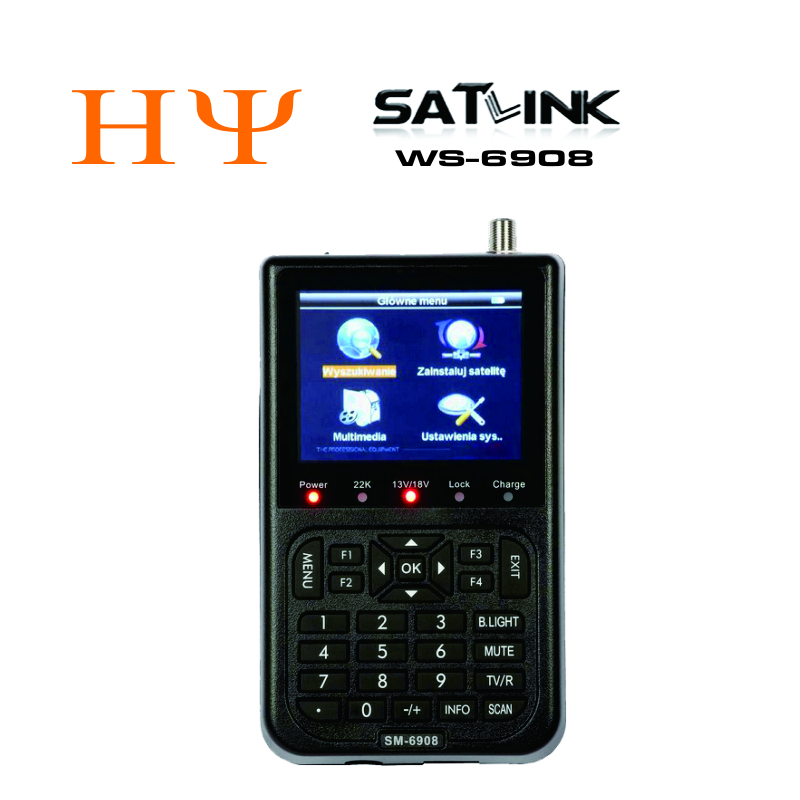 SATLINK WS-6908 DVB-S Digital Satellite Finder Meter WS6908 anewkodi original satlink ws 6906 3 5 dvb s fta digital satellite meter satellite finder ws 6906 satlink ws6906
