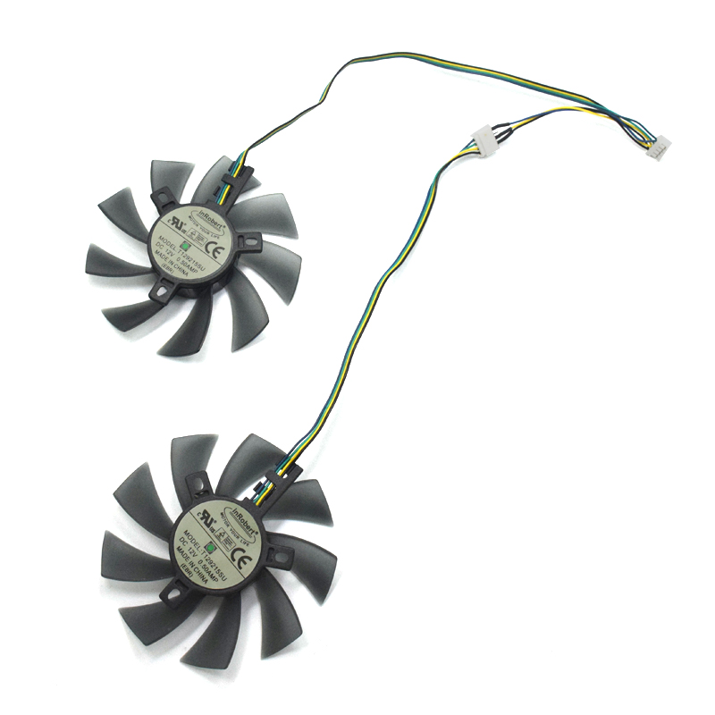 New 85MM 4Pin Two Ball Bearing Cooling Fan Replace For Sapphire R9 270/280/280X/285/HD7850/7870/7950/7970 Video Card Cooler DIY