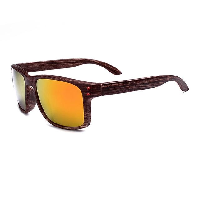 9772004cf0 Gafas de sol deportivas de grano de madera de gran venta para hombre gafas  remaches diseño