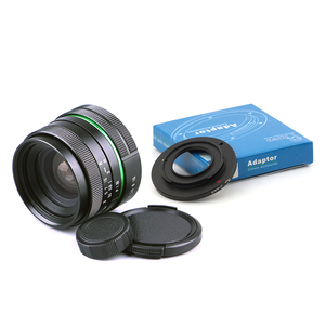 Image 1 - Venes 25mm f/1.8 APS C Lens+Lens Hood+Macro Ring+16mm C Mount adapter Suitable for a variety of cameras For Panasonic