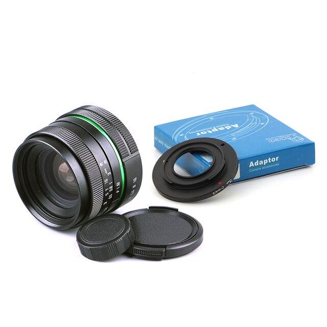 Venes 25mm f/1,8 APS C lente + parasol de lente + anillo Macro + adaptador de montaje de 16mm C adecuado para una variedad de cámaras para Panasonic