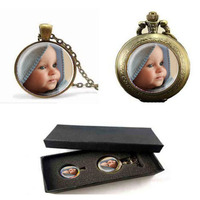 Photo Pendants Custom Necklace Photo Of Your Baby Child Mom Dad Grandparent Loved One Gift For