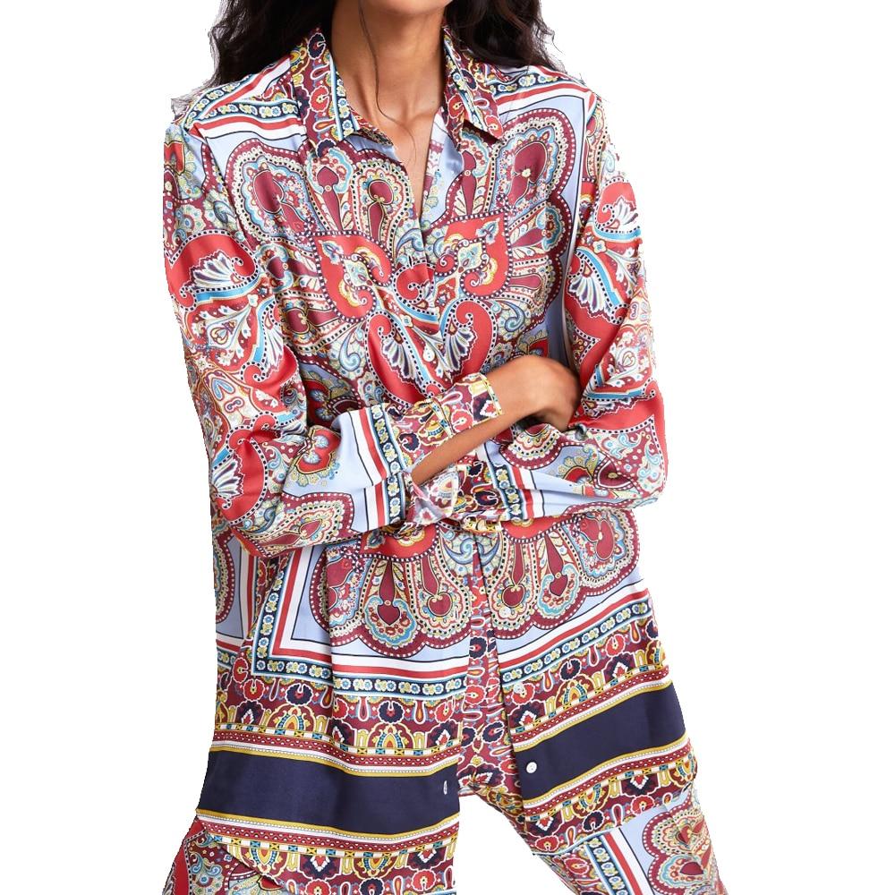 2019 za women polin retro boho froal print   blouse     shirts     blouses   full sleeve   shirts   Womens Camisa Blusas Feminina   Blouse