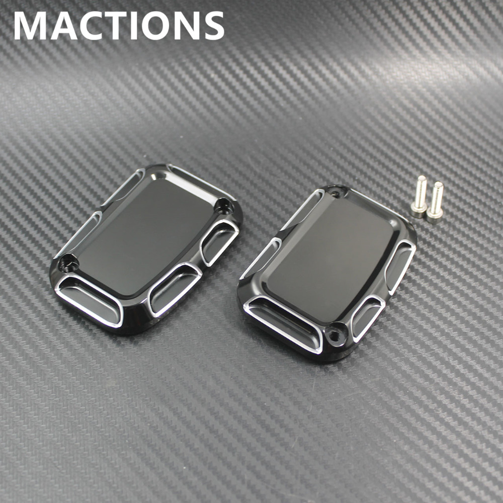 Frames & Fittings Reasonable 2pcs Brake Master Cylinder Cover For Harley Touring Road King Ultra Tri Street Glide Electra Street V-rod Night Rod Special 2017 Motorcycle Accessories & Parts