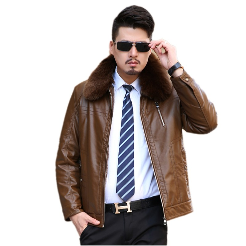 The new winter 2016 Men s leather heavy hair led detachable soft warm coat