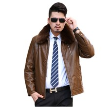 The new winter 2016 Men's leather heavy hair led detachable soft warm coat