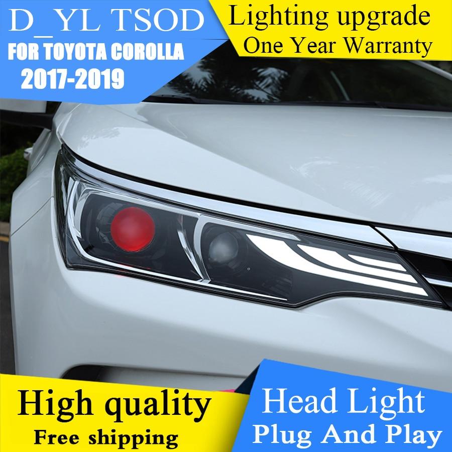 DY L Car Styling for Toyota Corolla Headlights 2017 2019 LED Car Goods DRL Bi Xenon